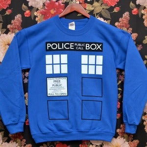 Image of [PREORDER] 'Police Box' Sweater