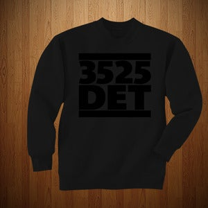 "Image of 3525 ""DET"" EDITION BLACK ON BLACK CREWNECK"