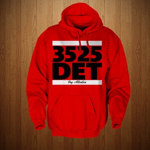 "Image of DETROIT RED WINGS ""DET 3525"" EDITION HOODIE FOR MEN AND WOMEN"