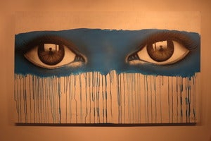 "Image of ""But you've already lost"" mixed media on canvas by Mydogsighs"