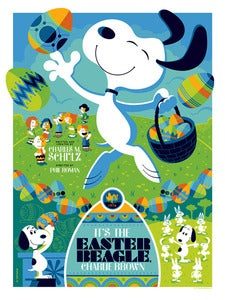 Image of it's the easter beagle, charlie brown : regular edition AP screenprint