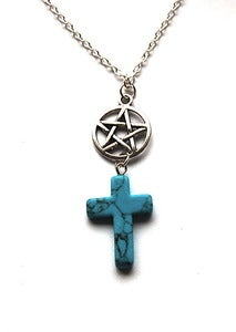 Image of Turquoise Pentagram Necklace