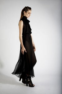 Image of Scarf Chiffon Dress