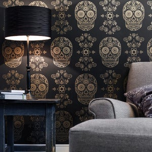 Image of Day of the Dead Sugar Skull Wallpaper