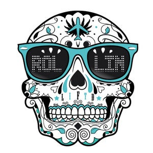 Image of Rollin Skull Sticker