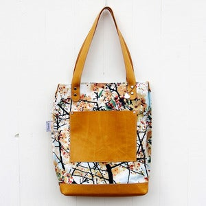 Image of Book bag, sakura, sky blue