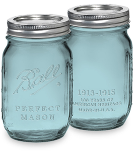 Image of Ball Vintage Blue Pint Jars
