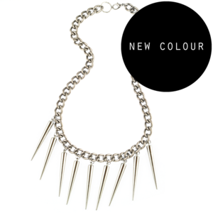 Image of Vivienne. Heavy Chain & Spike Necklace
