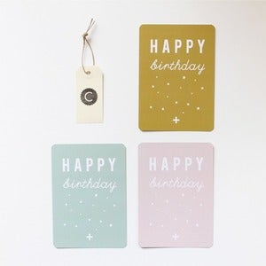 "Image of 3 Cartes postales ""HAPPY birthday"""