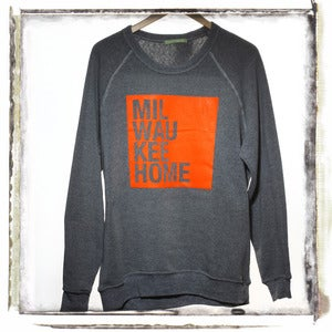 Orange on Grey Sweatshirt