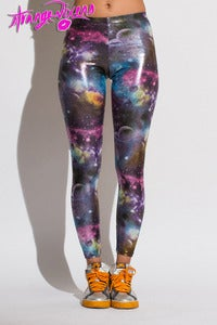 Image of Metallic Space Odyssey Leggings