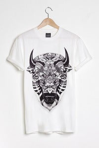 T-shirt design Bison - White
