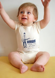 Image of &quot;Denison Witmer Sings Me To Sleep&quot; Organic One-Piece Romper