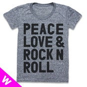 Image of PEACE LOVE &amp; ROCK N ROLL (WOMEN)