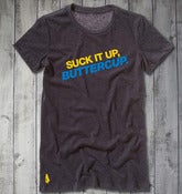 Suck It Up, Buttercup Tee - Dark Heather Grey