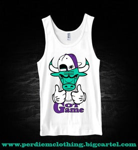 Image of Perdiem Clothing Jordan 5 aqua Grape Tank Top Bull WHT