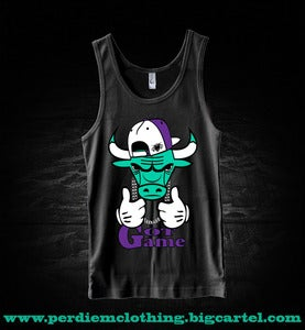 Image of Perdiem Clothing Jordan5 Grape Tank Top Bull BLK