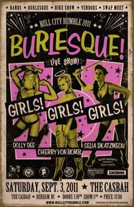 "Image of Bull City Rumble Burlesque 11""x17"" Event Poster"