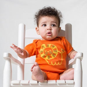 Image of Lion Short Sleeve Organic Onesie/Tee