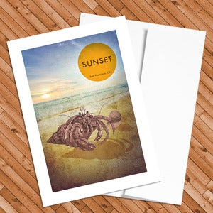 Image of The Sunset - 5x7 Postcard