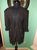 Image of &quot;Tux Girl&quot; Gold and Black Blazer