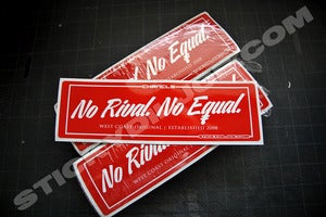 "Image of ""No Rival. No Equal."" CHRNCLS Die-Cut Decal"