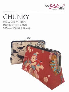Image of You Sew Girl - 200mm Chunky Purse Frame Kit