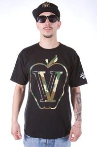 Image of CAMO APPLE TEE BLACK