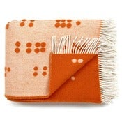 Image of Wool throw, Dot red ochre