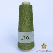 Image of Ito yarns - Kinu - 107 Cam Green