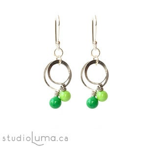 Image of SweetLoops Stacked Earrings - Forest
