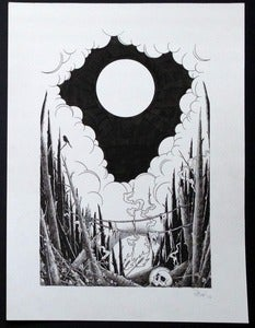 "Image of ""the forest"" original ink drawing (SOLD OUT)"
