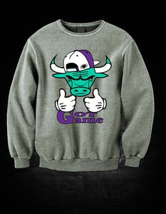 Image of Perdiem Clothing Jordan5 Grape Crew Neck  GREY