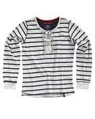 Image of Striped Lace Sweatshirt