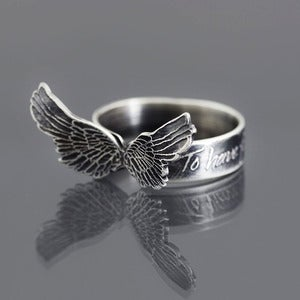 Image of Wings Ring - To Have Faith is to Have Wings