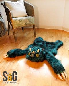 Imagem do Tapete Monstro luxuoso Teal (Raridade 4) 1 esquerda!